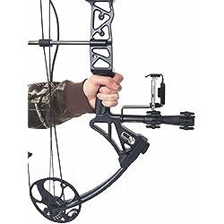 Teléfono inteligente Bow Holder accesorio fotos y video tiro con arco Caza Momento al aire libre compuesto arco caza teléfono soporte
