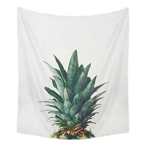 PYHQ Pineapple Urban Tapestry Wall Hanging Hippie Blanket Summer Art Mandala Bohemia Throw Home Decorations Curtain Beach Cover TableCloth Yoga Mat Rug Bedspread Bedsheet Tropical Green 150 x 130cm