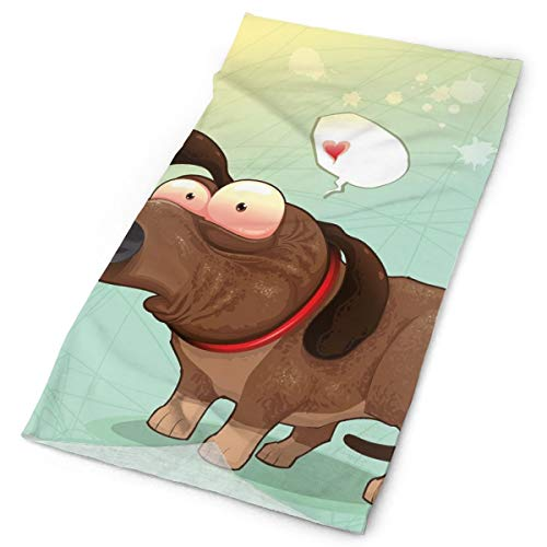 Magic Headwear Outdoor Scarf Headbands Bandana,Puppy In Love Werner Dog Romance Confusion Humor Caricature Style Pet Graphic,Mask Neck Gaiter Head Wrap Mask Sweatband