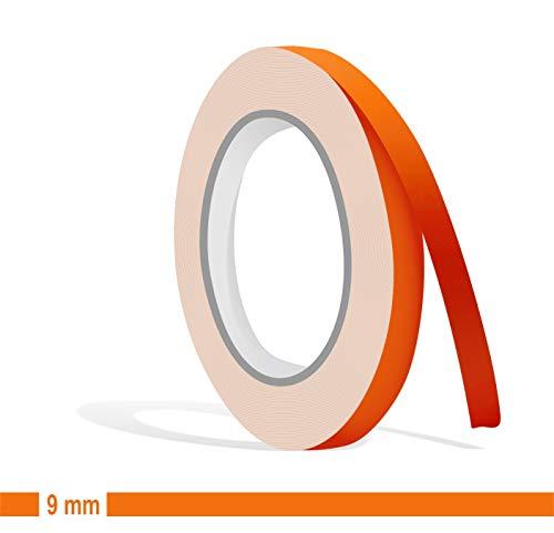 Siviwonder Zierstreifen orange matt in 9 mm Breite und 10 m Länge für Auto Boot Jetski Modellbau Klebeband Dekorstreifen -