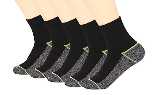 Kupfer Antibakterielle Athletische Socken für Männer und Frauen-Feuchtigkeits-Docht, rutschfeste Kissen Knöchelsocken - Frauen Athletische Socken