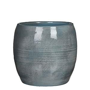 Mica Decorations 1002891 Lester Pot Ronde Bleu - H26xd28cm