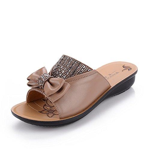 Scarpe di mamma/ vecchi sandali/Donne antiscivolo morbide pantofole alla fine di una parola A