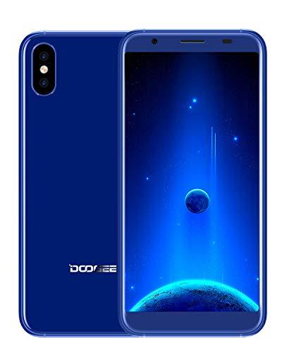 Offerte Cellulari Economici, DOOGEE X55 Dual SIM Android 7.0 Smartphone Offerta del Giorno 5,5 pollici 18:9, 3G Telefonia Mobile 16GB ROM Doppia Camera 8.0MP+8.0MP 2800mAh Cornice metallica, Blu