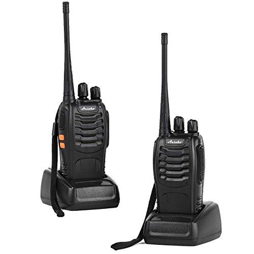 Ansoko PMR Zweiweg Funkgerät Walkie Talkies Langstrecken 16-Kanal Handheld 2-Wege-Radio Lizenzfrei (2er Pack) (Mobile Uhf-land)