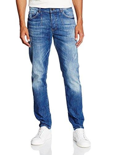 Frankie Morello Perth, Jeans a Gamba Dritta Uomo, Blu (Blu Denim), 50 (Taglia Produttore:36)