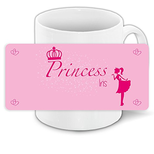 Prinzessin Iris (Tasse mit Namen Iris und schönem Prinzessin-Motiv für Mädchen - Tasse für Kinder Keramiktasse)
