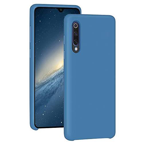 Funda para Xiaomi Mi 9/Mi 9 SE Teléfono Móvil Silicona Liquida Bumper Case y Flexible Scratchproof Ultra Slim Anti-Rasguño Protectora Caso (Blue, Xiaomi Mi 9 SE)