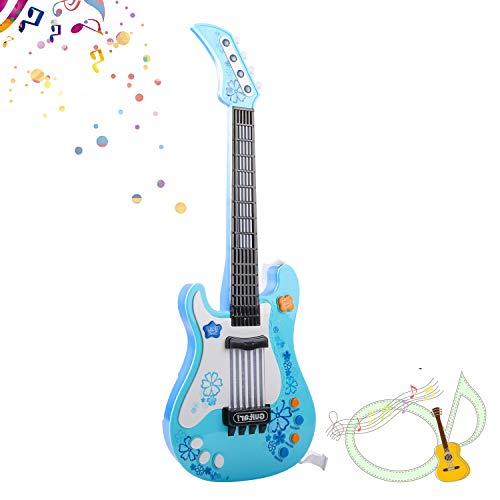 SANLINKEE Kinder Gitarre Baby Elektrische Gitarre Kinder Spielzeuggitarre Musik Gitarre Spielzeug ohne Saite Kindergitarre Music Gitarre für Kinder, Blau