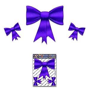 Bogen Krawatten Lila kleine Pack Mädchen Vinyl Auto Aufkleber - ST00027PL_SML - JAS Aufkleber