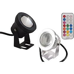 Foco led RGB subacuático, para piscina o fuente, lámpara de colores, bombilla 10 W, impermeable
