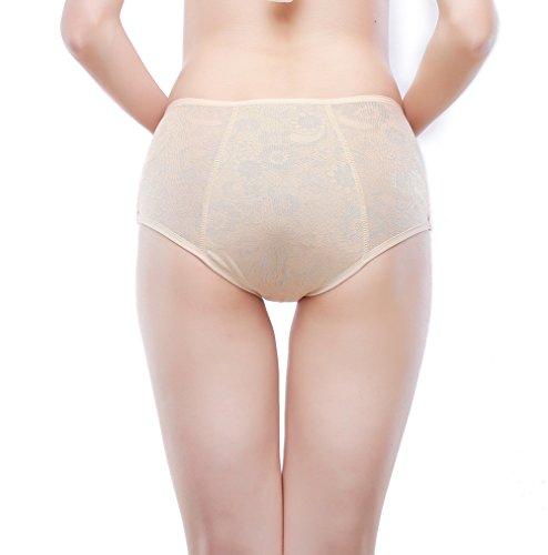 Frauen Menstruation Slip Jacquard Easy Clean Slip Multi Pack Größe 36-50 Schwarz,Nackt