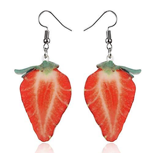 Damen Ohrringe HäNgend Obst Fischhaken Kreativ Ohrstecker,Lialbert Erdbeere Ananas Frauen Schmuck Geschenk