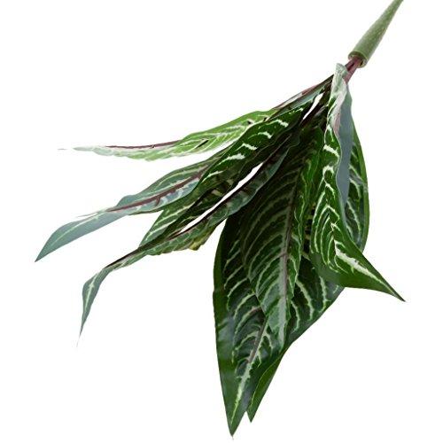 ELECTROPRIME Artificial 10-Fork Calathea Makoyana Leaf Plants Silk Foliage Grass Green