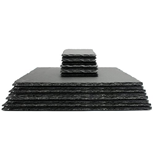 Natural slate placemats with coasters quality contemporary kitchenware m&w 16pc new