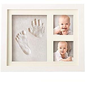 Set de Marco de Fotos y Huellas de Bebé en Arcilla – Recuerdo memorable – No tóxico – Ideal Regalos Para Bebes – Marco…