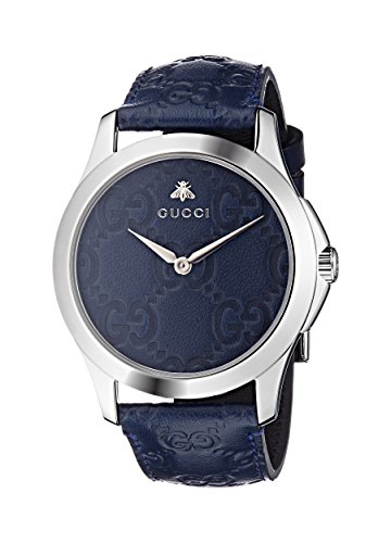 Gucci Unisex-Adult Analogue Classic Quartz Watch with Leather Strap YA1264032