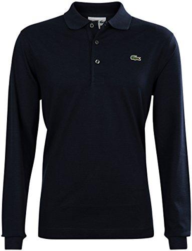 Lacoste L1330 Herren Polo-Shirt Langarm,NAVY BLUE(166), XXX-Large (8)