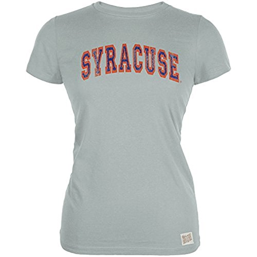 Syrakus-Orange - Distressed Outlined Arch Logo Vintage Junioren T-Shirt - Gro? (Logo T-shirt Vintage Arch)