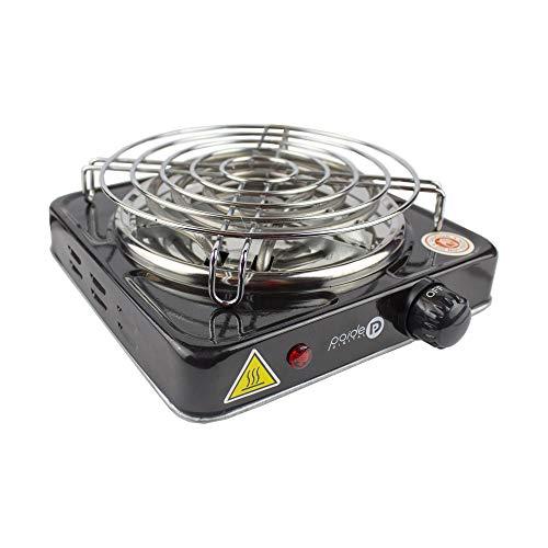 Paide Cocina eléctrica con reijlla para cachimba Shisha Hookah Camping para cocinar carbón (Negro)