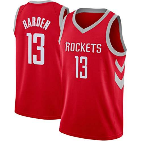 CRBsports James Harden, Baloncesto Jersey, Cohetes, Tejido Bordado, Swag, Ropa Deportiva (Rojo, M)