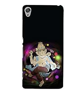 Fiobs Designer Back Case Cover for Sony Xperia XA :: Sony Xperia XA Dual (Gold Ganapati Ganesh Ganesha )