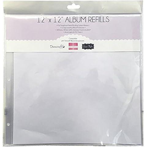 Trimcraft Snap Load Album Refills, Multi-Colour, 12 x 12-Inch