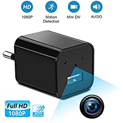 Supoggy Mini Cámara Espía 1080P Portátil Cámara Oculta Cámara Detector de Movimiento No Incluidas Tarjeta SD