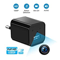 Idea Regalo - Supoggy Mini telecamera spia nascosta wireless, telecamera HD Nanny Full HD 1080Pe piccola, registrazione video e rilevamento del movimento per casa, automobile, drone, ufficio