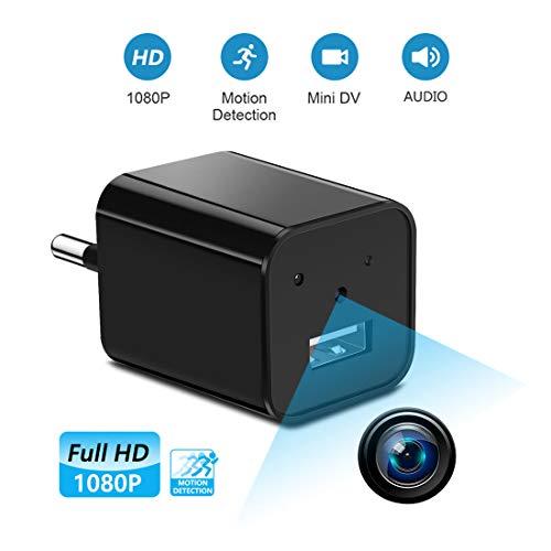 Supoggy Mini telecamera spia nascosta wireless, telecamera HD Nanny Full HD 1080Pe piccola, registrazione video e rilevamento del movimento per casa, automobile, drone, ufficio