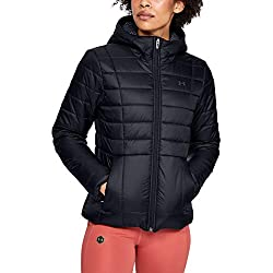 Under Armour Armour Insulated Hooded Chaqueta, Mujer, Negro, XS