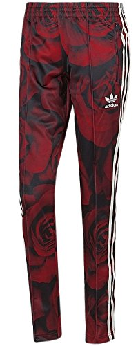 adidas Damen Originals Traininghose Red Clash Track Pant (rot-schwarz, 32)