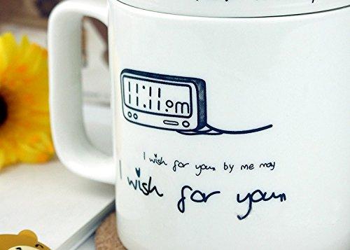 nk Einzigartige Creative Love Buchstabe Tassen, Tee Kaffee Milch Cup Geschenk Hochzeit Lover hug- I Wish für Sie ()