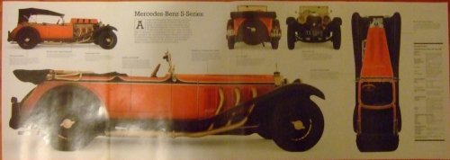 mercedes-s-series-fold-out-poster-cut-a-way-drawing-24-page-magazine