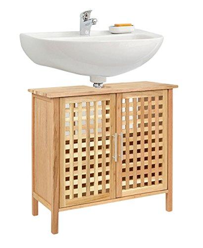 ts-ideen Waschbeckenunterschrank Walnuss Holz Badezimmer Schrank Waschbecken Unterschrank