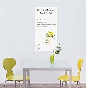 magnetische tafelfolie wandfolie wandtafel kreidetafel weiss 100x50 k che haushalt. Black Bedroom Furniture Sets. Home Design Ideas