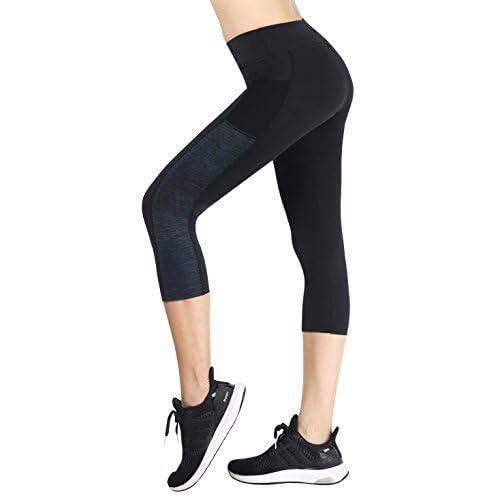 41%2B9ytelhbL. SS500  - Flatik Women's Active Yoga Pants Outdoor Capris Workout Leggings