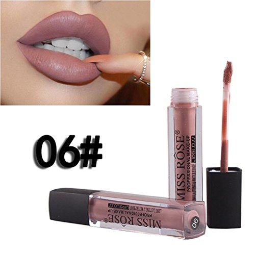 Rouge à lèvres, DOLDOA Liquid Lipstick Moisturizer Velvet Lipstick Cosmetic Beauty Makeup (#6)