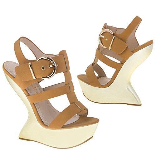 Damen Schuhe, 11199, SANDALETTEN Camel