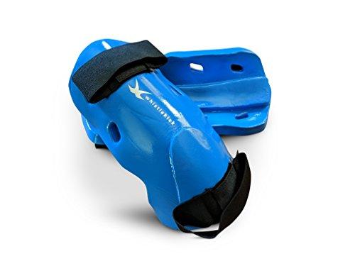 whistlekick Martial Arts Unterarm- und Ellbogenschützer für Karate, Taekwondo und Kickboxen, Barracuda (Light Blue), S