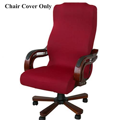 Caveen Cubierta de la silla oficina removible funda de silla separado silla cubre rojo
