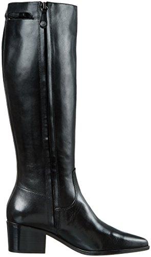 Geox D Lia A, Bottes haute Femme Schwarz (BLACKC9999)