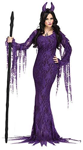 CWZJ Halloween Cosplay Kostüm Frau Horror Braut Geister Kostüm Cos Kostüm Phantasie Kleid Party-Kostüm Erwachsene Cosplay Halloween Karneval Themen Party,Purple,L (Geist Frau Kostüme)