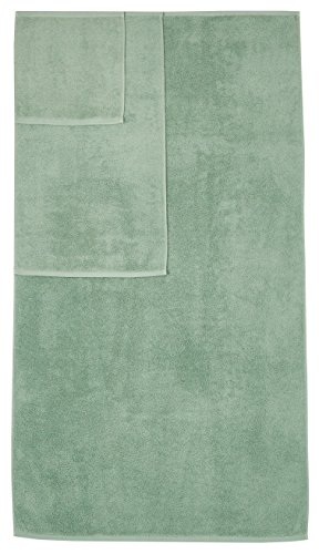 AmazonBasics Quick-Dry 3-Piece Towel Set, Seafoam Green
