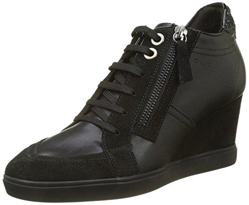 Geox Damen D Eleni C Hohe Sneaker, Schwarz (Black), 39 EU
