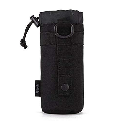 Protector Plus Unisex Adult Taktische Militärwasser-Flaschenhalter wasserdichte Molle-Kessel Beutel-Fördermaschine für das Kampieren-Wandern Laufen, S1-Black,