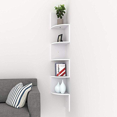 Swteeys Eckregal Regal Wand Lagerregal Hängeregal Büroregal Bücherregal Raumteiler 5 Stufen