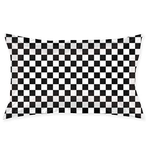 Throw Pillow Cases Checkered Flag Computer Pillow Case Sofa Car Waist Throw Cushion Cover Home Decor Decorative Polyester and Linen Throw Pillow Case Cushion Cover 18x30 Inch (Club-car-computer)