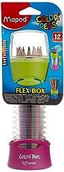 Maped Color Pencil - 12 Pencils In Retractable Pot - Pink