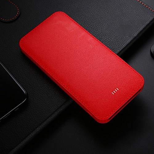 Jintes Power Bank Kit 10000 mAh ultradünne 5,5-Zoll-USB-Ausgangsleistungs-Bank-Bausatz Rot -